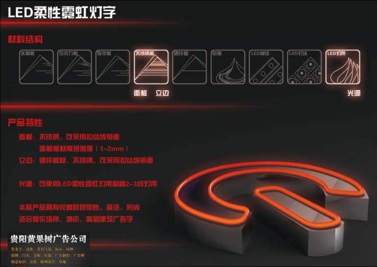 LED柔性霓虹灯字