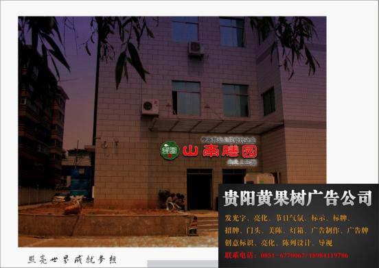 山南膳园发光字,LOGO工程